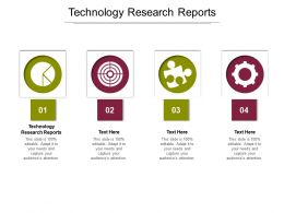 Technology Research Reports Ppt Powerpoint Presentation Layouts Brochure Cpb