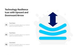 Technology Resilience Icon With Upward And Downward Arrow