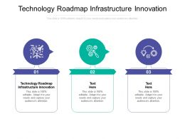 Technology Roadmap Infrastructure Innovation Ppt Powerpoint Picture Cpb