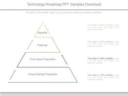 Technology Roadmap Ppt Samples Download