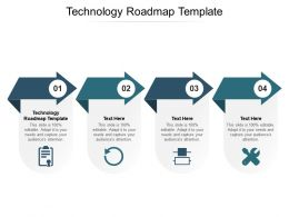 Technology Roadmap Template Ppt Powerpoint Presentation Show Slide Cpb
