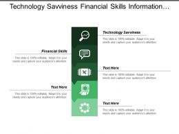 Technology Savviness Financial Skills Information Sharing Social Awareness