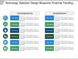 Technology Selection Design Blueprints Financial Trending Technology Trends