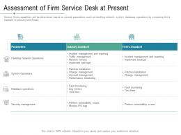 Technology Service Provider Solutions Assessment Of Firm Service Desk At Present Ppt Download