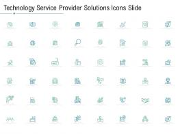Technology Service Provider Solutions Technology Service Provider Solutions Icons Slide Ppt Summary