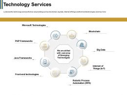 Technology Services Process Automation Ppt Powerpoint Presentation Pictures Images