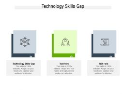Technology Skills Gap Ppt Powerpoint Presentation Infographic Template Structure Cpb