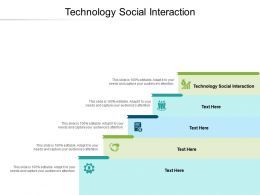 Technology Social Interaction Ppt Powerpoint Presentation Styles Background Cpb