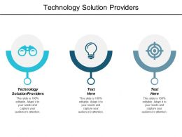 Technology Solution Providers Ppt Powerpoint Presentation Layouts Information Cpb