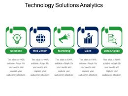 Technology Solutions Analytics Ppt Presentation Examples