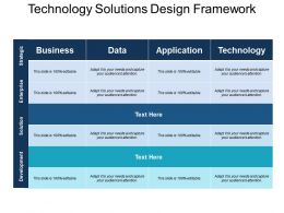 Technology Solutions Design Framework Ppt Sample Presentations