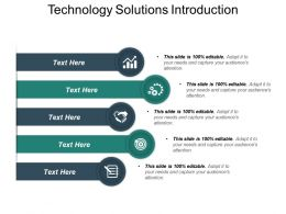 Technology Solutions Introduction Sample Presentation PPT