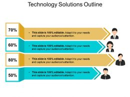 Technology Solutions Outline Presentation Visuals