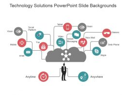 Technology Solutions Powerpoint Slide Backgrounds