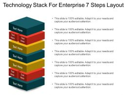 Technology Stack For Enterprise 7 Steps Layout