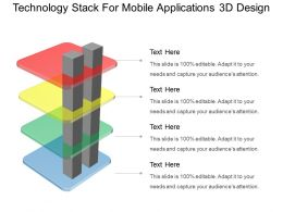 Technology Stack For Mobile Applications 3d Design