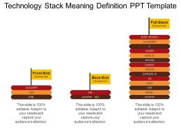 Technology Stack Meaning Definition Ppt Template