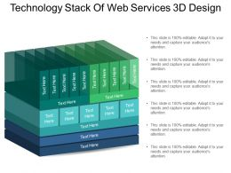 Technology Stack Of Web Services 3d Design