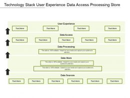 Technology Stack User Experience Data Access Processing Store