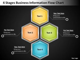 Technology Strategy Consulting 4 Stages Business Information Flow Chart Powerpoint Slides