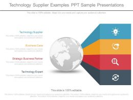 Technology Supplier Examples Ppt Sample Presentations