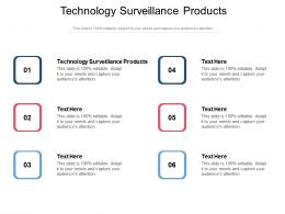 Technology Surveillance Products Ppt Powerpoint Presentation File Graphics Tutorials Cpb