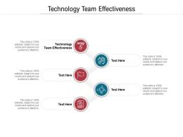 Technology Team Effectiveness Ppt Powerpoint Presentation Ideas Design Templates Cpb