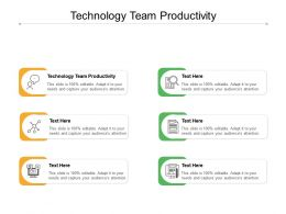 Technology Team Productivity Ppt Powerpoint Presentation Ideas Graphic Tips Cpb