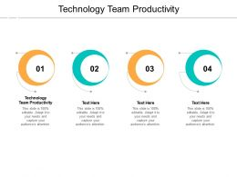 Technology Team Productivity Ppt Powerpoint Presentation Outline Styles Cpb