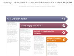Technology Transformation Solutions Mobile Enablement Of Products Ppt Slide