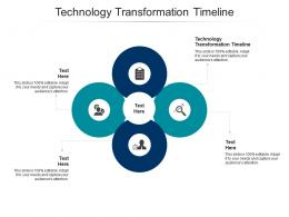 Technology Transformation Timeline Ppt Powerpoint Presentation Infographic Template Model Cpb