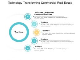 Technology Transforming Commercial Real Estate Ppt Powerpoint Presentation Slides Cpb
