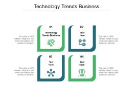 Technology Trends Business Ppt Powerpoint Presentation Layouts Deck Cpb