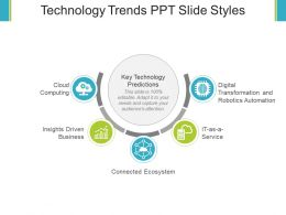 Technology Trends Ppt Slide Styles