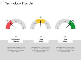 Technology Triangle Ppt Powerpoint Presentation Gallery Information Cpb