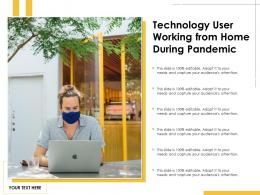 Technology User Working From Home During Pandemic