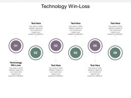 Technology Win Loss Ppt Powerpoint Presentation Portfolio Example Cpb