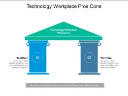 Technology Workplace Pros Cons Ppt Powerpoint Presentation Ideas Guide Cpb