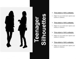 Teenager Silhouettes Good Ppt Example