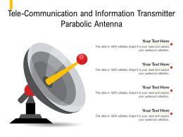Tele Communication And Information Transmitter Parabolic Antenna