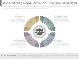 Tele Marketing Social Media Ppt Background Designs