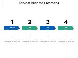 Telecom Business Processing Ppt Powerpoint Presentation Professional Structure Cpb