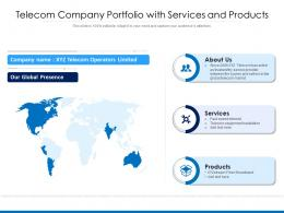 Telecom Company Portfolio With Services And Products