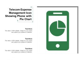 Telecom Expense Management Icon Showing Phone With Pie Chart