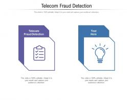 Telecom Fraud Detection Ppt Powerpoint Presentation Outline Structure Cpb