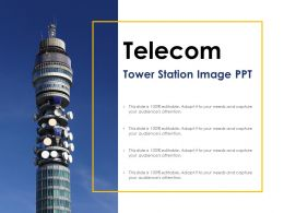 Telecom Tower Station Image Ppt