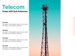 Telecom Tower With Sub Antennas