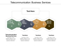 Telecommunication Business Services Ppt Powerpoint Presentation Infographic Template Background Images Cpb