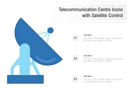 Telecommunication Centre Icons With Satellite Control
