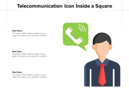 Telecommunication Icon Inside A Square